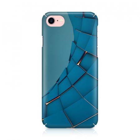 Husa iPhone 7 Custom Hard Case Blue Squares1
