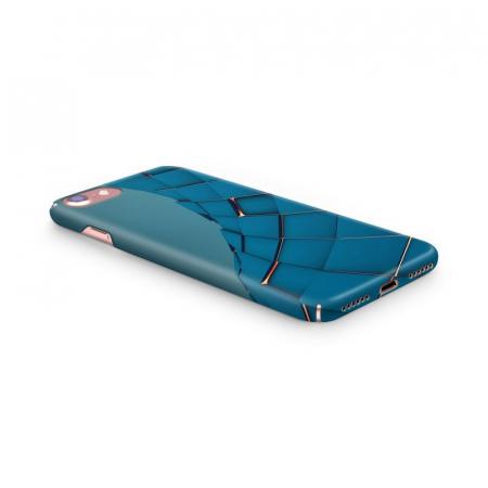 Husa iPhone 7 Custom Hard Case Blue Squares2