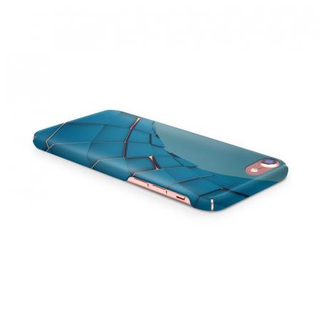 Husa iPhone 7 Custom Hard Case Blue Squares3