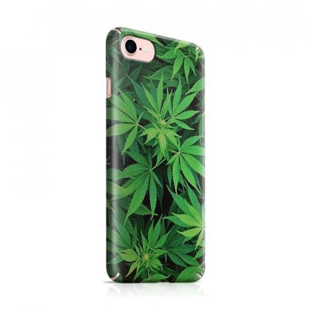 Husa iPhone 7 Custom Hard Case Green Leaf0