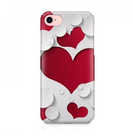 Husa iPhone 7 Custom Hard Case Heart Shape2