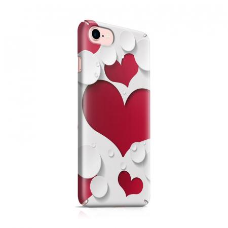 Husa iPhone 7 Custom Hard Case Heart Shape0