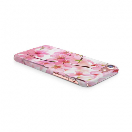 Husa iPhone 7 Custom Hard Case Pink Flowers2