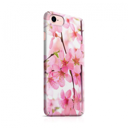 Husa iPhone 7 Custom Hard Case Pink Flowers0