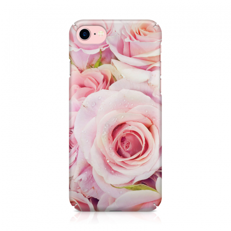 Husa iPhone 7 Custom Hard Case Pink Roses1