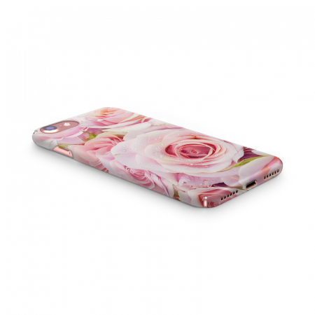 Husa iPhone 7 Custom Hard Case Pink Roses2