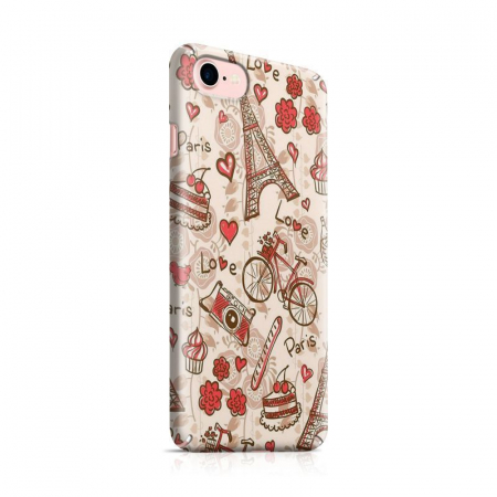 Husa iPhone 7 Custom Hard Love Paris0