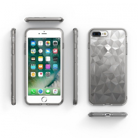 Husa iPhone 7 Plus / iPhone 8 Plus Prism Soft TPU - negru2