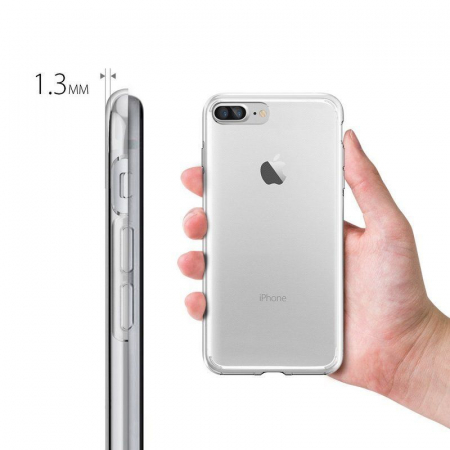 Husa iPhone 7 Plus / iPhone 8 Plus Soft TPU 0.8 mm - transparent2