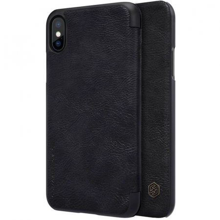 Husa iPhone X Nillkin Qin - negru0