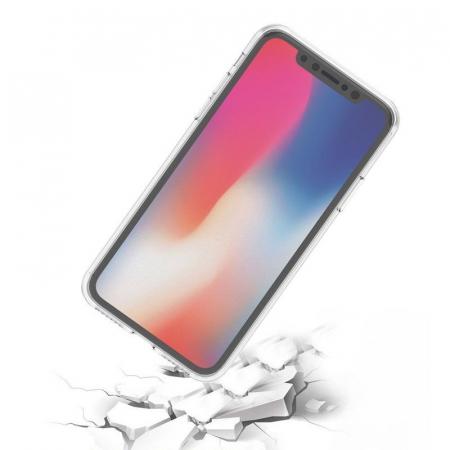 Husa iPhone X Silicon TPU 360 grade - transparent1