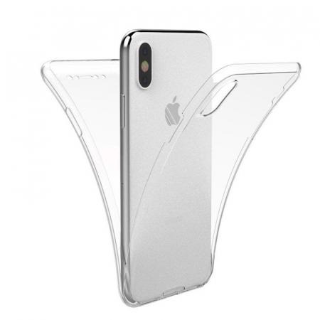 Husa iPhone X Silicon TPU 360 grade - transparent0