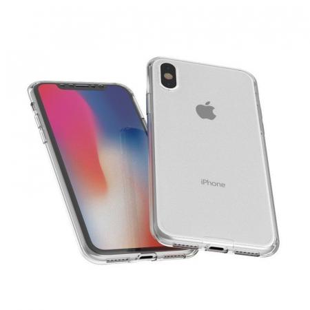 Husa iPhone X Silicon TPU 360 grade - transparent4