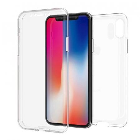 Husa iPhone X Silicon TPU 360 grade - transparent6
