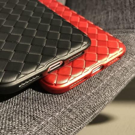 Husa iPhone X Weaving Pattern TPU  - rosu7