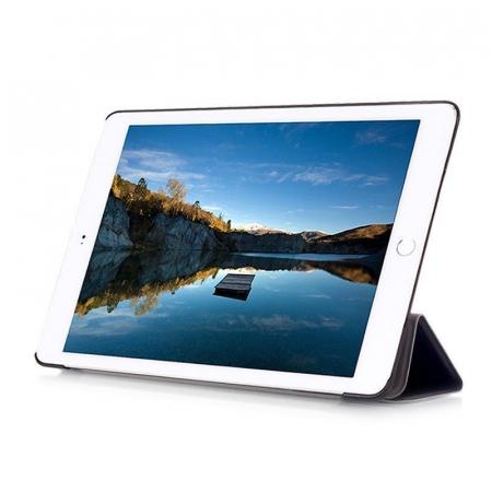 Husa iPad Mini 4 Leather Smart Case Tri-fold Stand - negru [5]