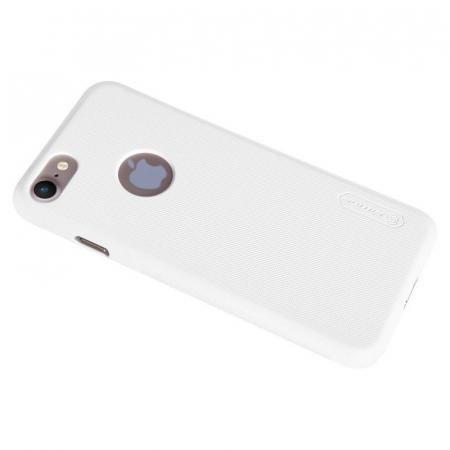 Husa  iPhone 7 - Nillkin Frosted Shield - alb5