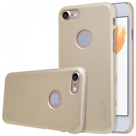 Husa  iPhone 7 - Nillkin Frosted Shield - gold4