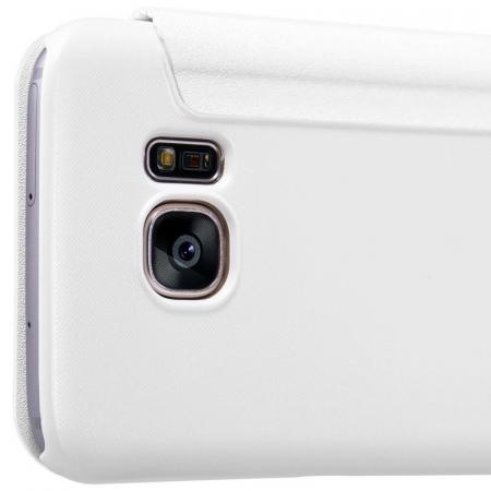 Husa Nillkin Sparkle Samsung Galaxy S7 - alb2