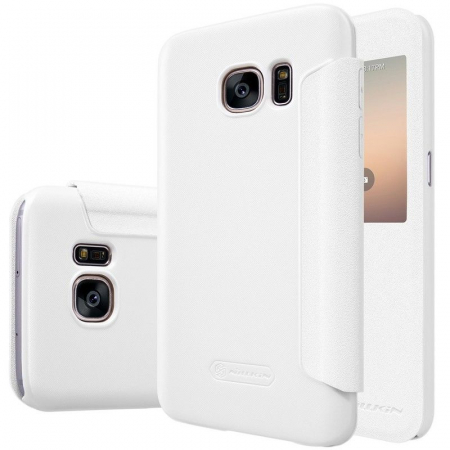 Husa Nillkin Sparkle Samsung Galaxy S7 - alb1
