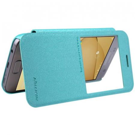 Husa Nillkin Sparkle Samsung Galaxy S7 - albastru4