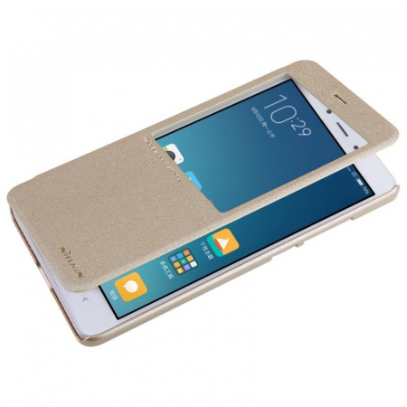 Husa Nillkin Sparkle Xiaomi Redmi Note 4 - gold2