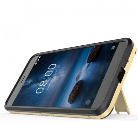 Husa Nokia 2 Hybrid Stand - gold4