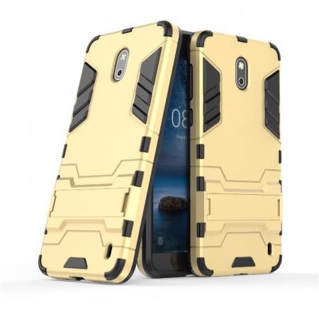 Husa Nokia 2 Hybrid Stand - gold1