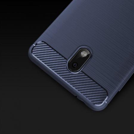 Husa   Nokia 2 Tpu Carbon Fibre Brushed - albastru4