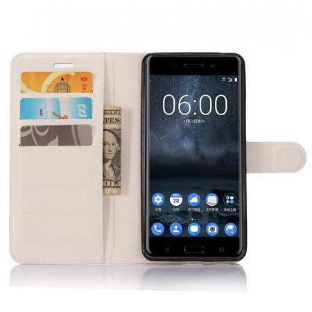Husa Nokia 6 Crazy Horse Flip Book - alb2