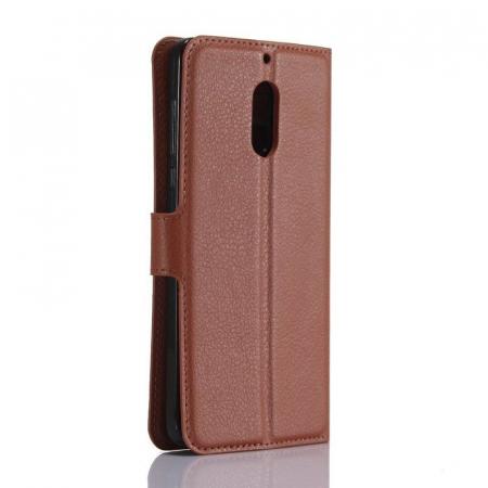 Husa Nokia 6 Crazy Horse Flip Book - maro2