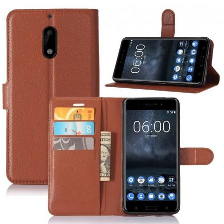 Husa Nokia 6 Crazy Horse Flip Book - maro4