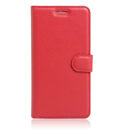 Husa Nokia 6 Crazy Horse Flip Book - rosu0