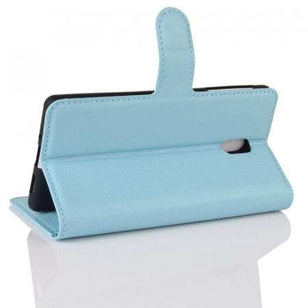 Husa   Nokia 3 Crazy Horse flip din piele eco - alb1