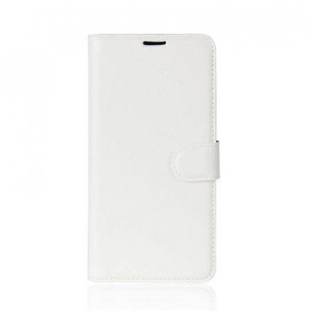 Husa   Nokia 3 Crazy Horse flip din piele eco - alb0