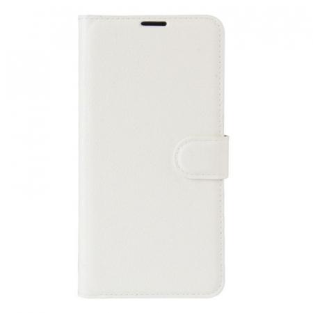 Husa Nokia 5  Crazy Horse flip din piele eco - alb0