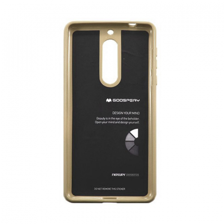 Husa Nokia 5 Goospery Mercury Jelly Case Silicon - gold2