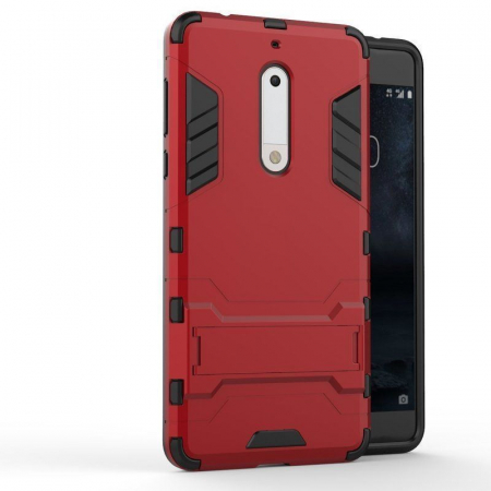 Husa   Nokia 5 Slim Armour Hybrid - rosu0
