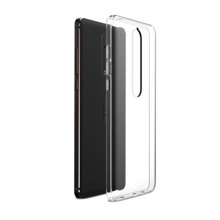 Husa   Nokia 6 (2018) / Nokia 6.1 Silicon TPU extra slim 0.5 mm - transparent1