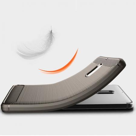 Husa Nokia 6 Carbon Fibre Brushed - gri2