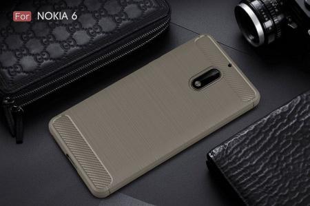 Husa Nokia 6 Carbon Fibre Brushed - gri1