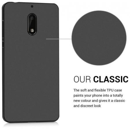Husa  Nokia 6  Silicon Matte TPU extra slim - negru2