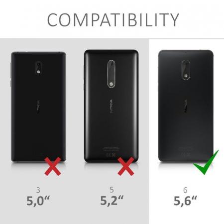 Husa  Nokia 6  Silicon Matte TPU extra slim - negru1