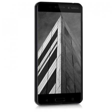 Husa  Nokia 6  Silicon Matte TPU extra slim - negru3