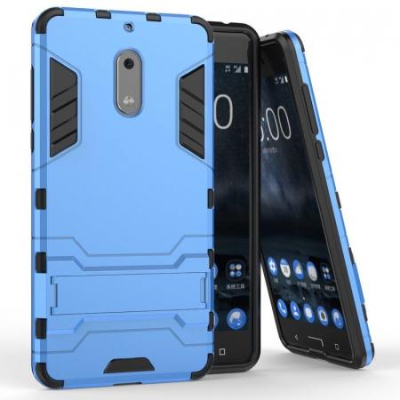 Husa Nokia 6 Slim Armour Hybrid - albastru1