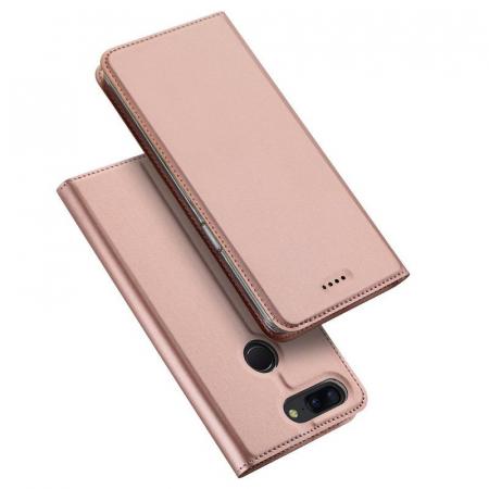 Husa OnePlus 5T - Dux Ducis din piele eco - rose-gold2