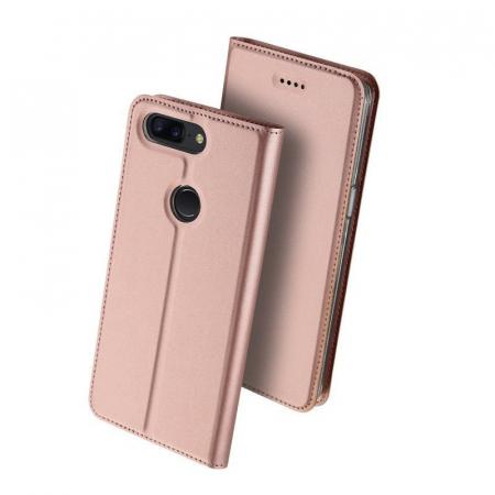 Husa OnePlus 5T - Dux Ducis din piele eco - rose-gold1