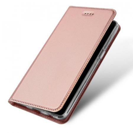 Husa OnePlus 5T - Dux Ducis din piele eco - rose-gold0