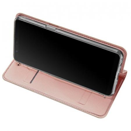 Husa OnePlus 5T - Dux Ducis din piele eco - rose-gold3