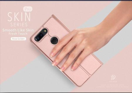 Husa OnePlus 5T - Dux Ducis din piele eco - rose-gold5